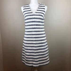 J. Crew Striped Tweed Sheath Dress Size 4